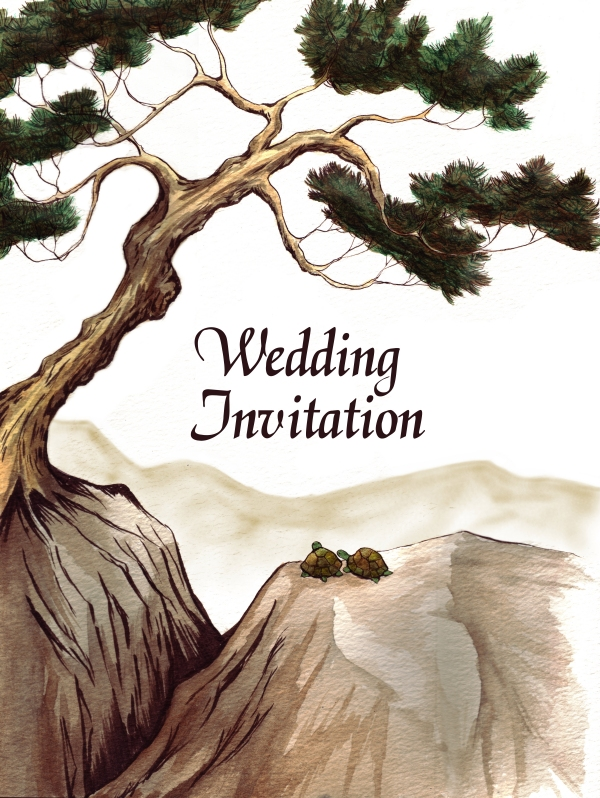 Wedding invitation for my sister