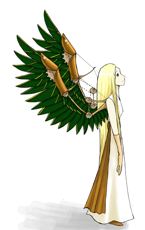 Winged character for mangaka.co.uk